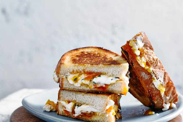 Goat's Cheese Toastie Recipe with Thyme