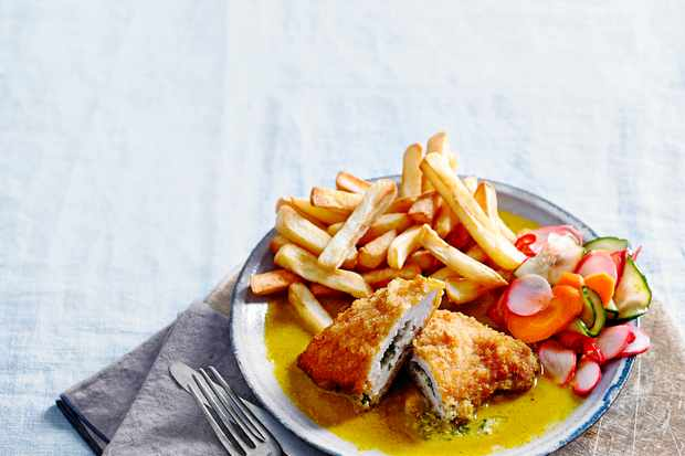 Chicken Kiev Recipe with Katsu Curry Sauce