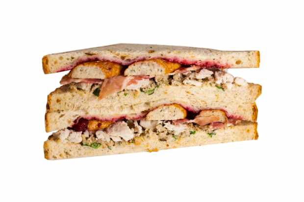 Aldi's Specially Selected Turkey with Pigs Under Blankets Christmas sandwich (£1.99)