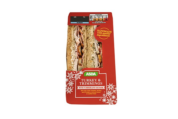 Asda turkey and trimmings Christmas sandwich