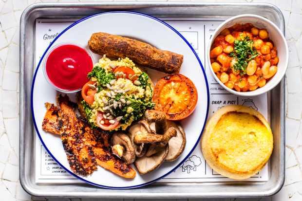 by CHLOE. vegan full English breakfast