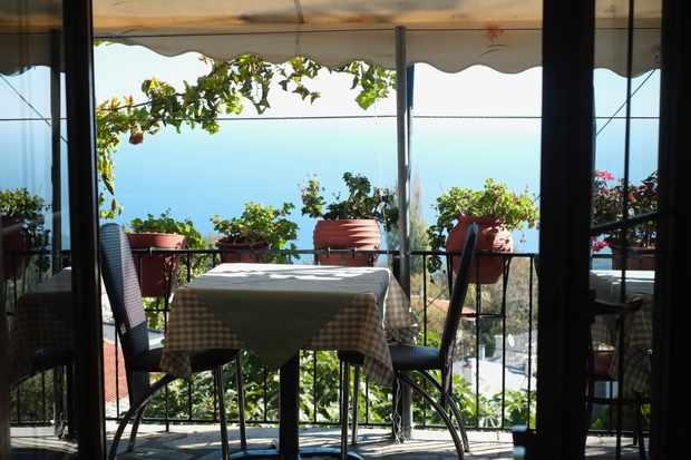 Sea view from the balcony of Meintani (Niki) in Zagora