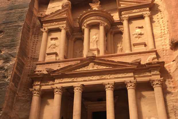 The Treasury at Petra, one of the wonders of the world