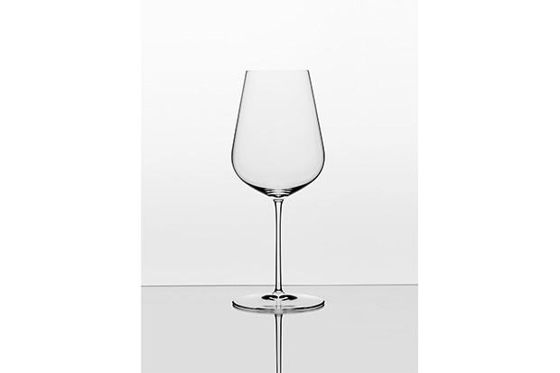 Janic Robinson and Richard Brendon wine glass