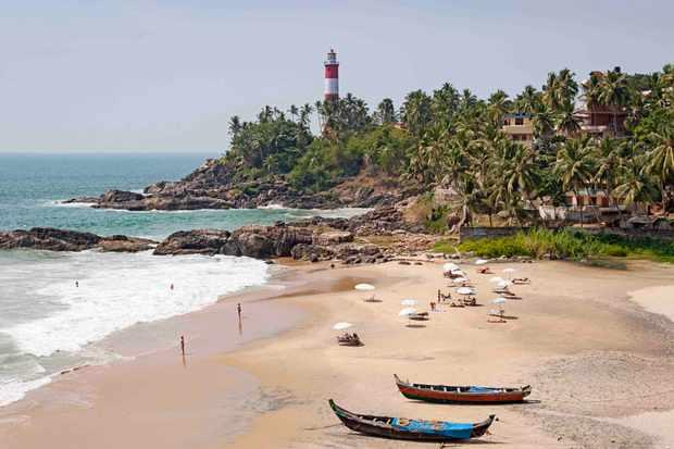 Beach at Kovalam, near Trivandrum, Kerala