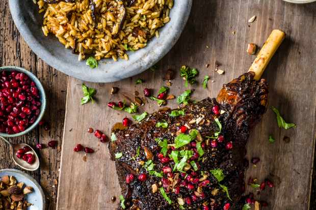 Ras El Hanout Lamb Recipe with Aubergine Pilaf