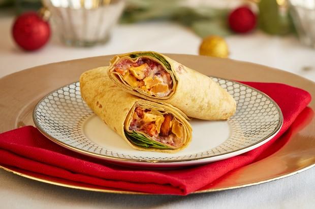 Tesco Vegetable Christmas Dinner Wrap Christmas sandwich