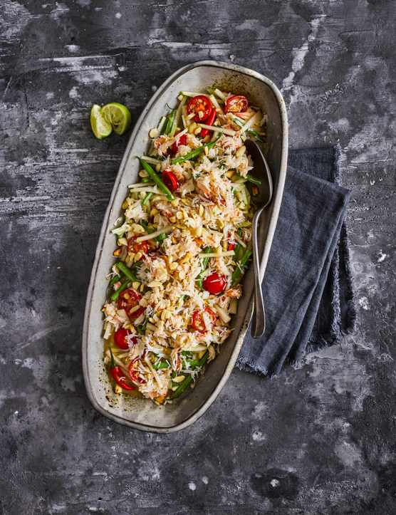 Thai Crab Salad Recipe with Kohlrabi