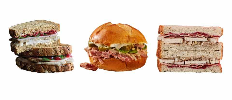 Three sandwiches in a row