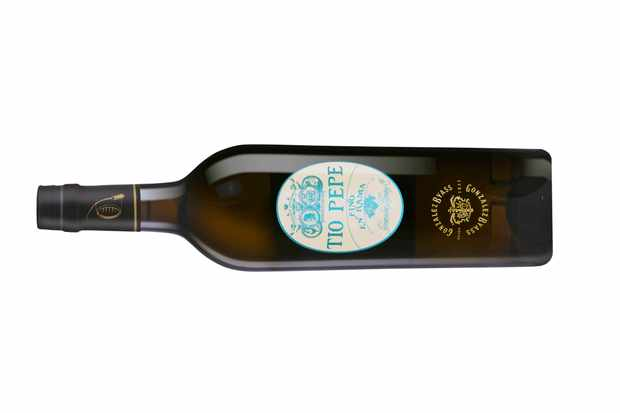 Bottle of Tio Pepe fino sherry