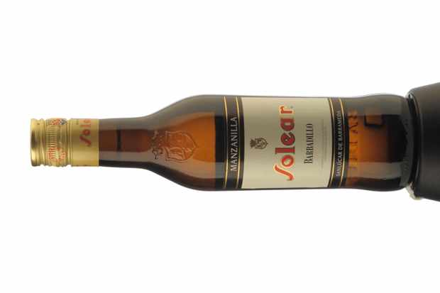Solear Manzanilla Sherry bottle