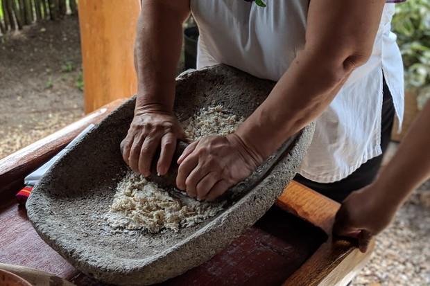 Tortilla making at San Antonio Women's Group