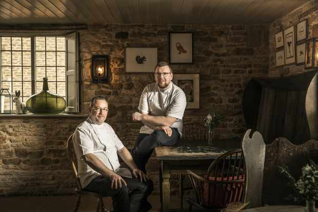 Alyn Williams and Nathan Eades at The Wild Rabbit, Kingham