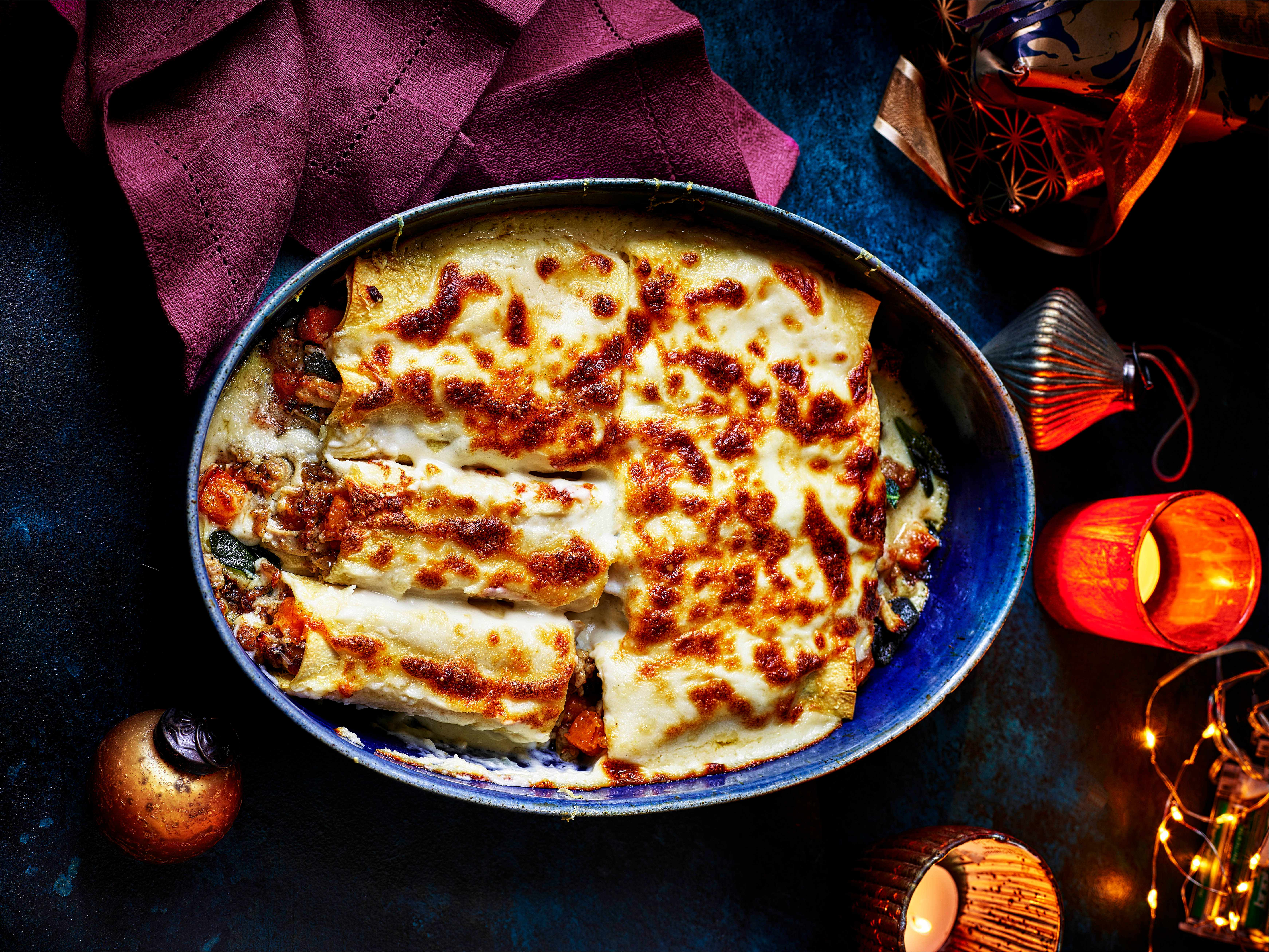 Turkey Cannelloni Recipe with Sage