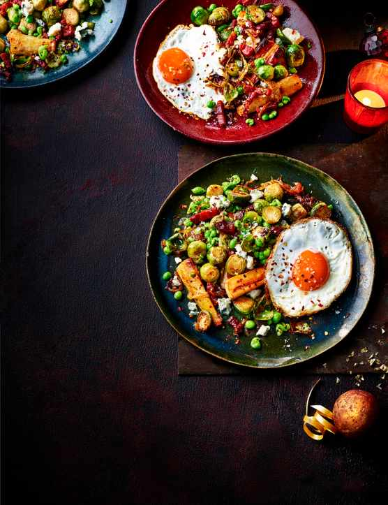 Hash Recipe with Bacon and Brussels Sprouts