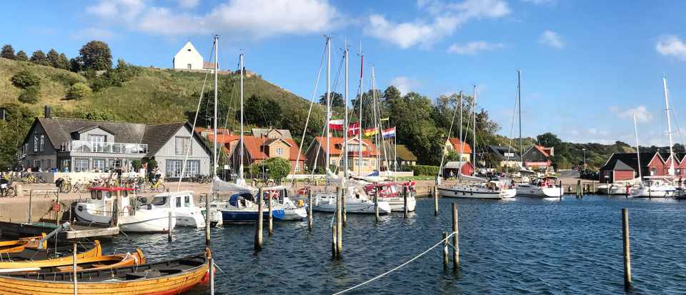 The harbour in Hven Sweden