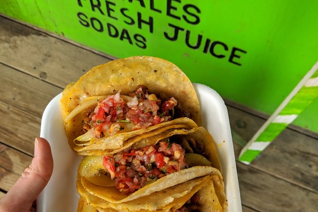 Tacos from Belize Mexican in Placencia