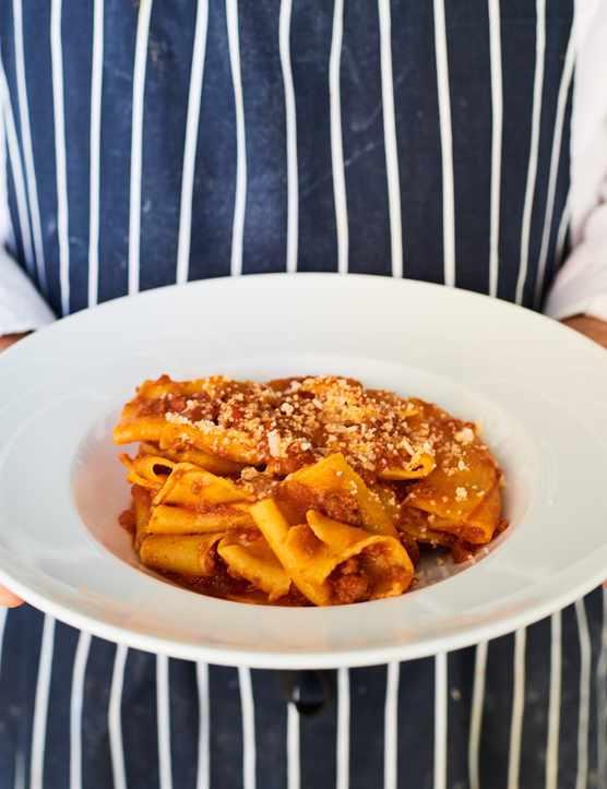 Plate of pasta at Al Dente Fitzrovia