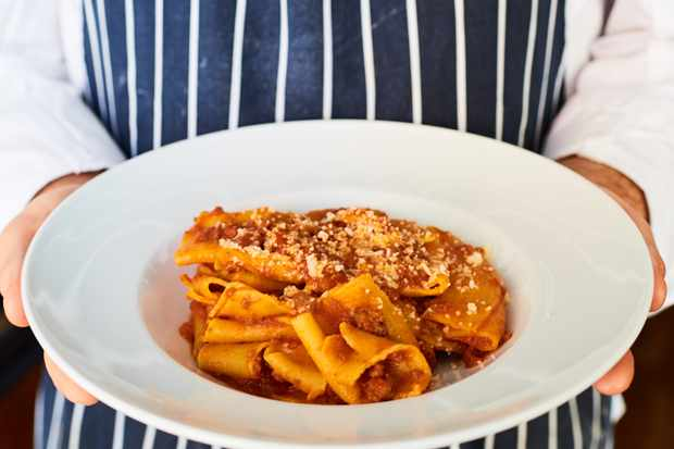 Plate of pasta at Al Dente Fitzrovia