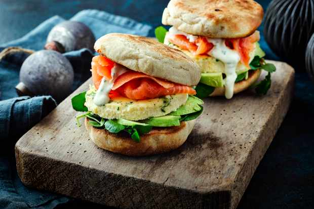 Breakfast Muffins with Smoked Salmon