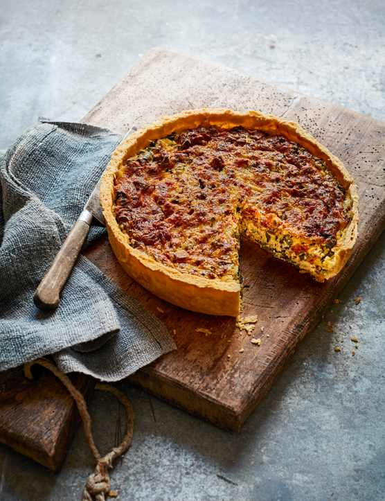 Classic Quiche Lorraine with Greens