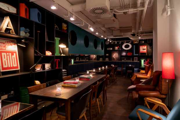 Bar area of Ruby Hotels in Hamburg