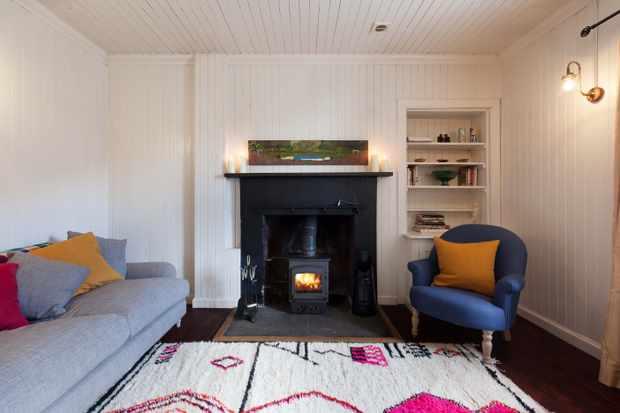 Living room at Shepherd's Cottage, Eilean Shona