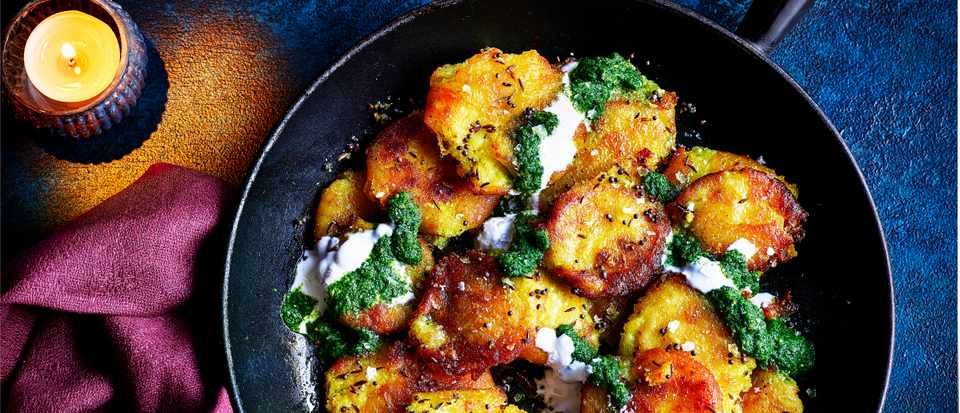 Quick Pan Fried Potatoes Recipe with Harissa
