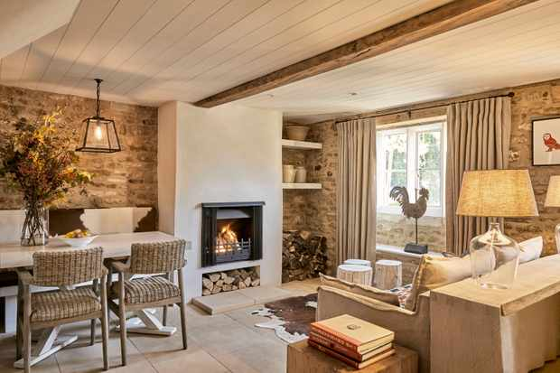The living room at The Wild Rabbit Little Owl Cottage