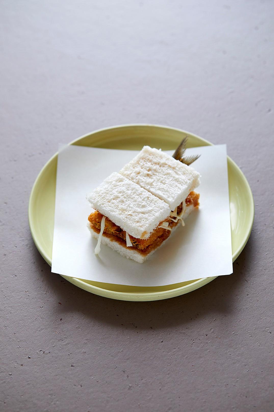 Sardine katsu sandwich