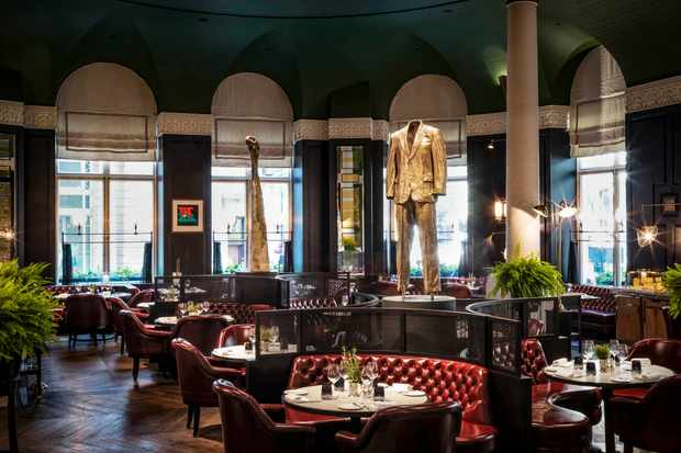 The main dining room at Kerridge's Bar and Grill