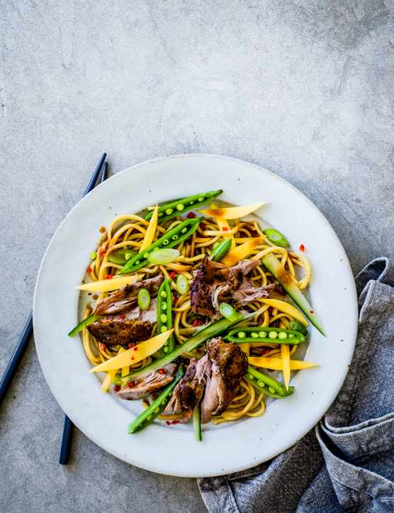 Crispy Duck Salad Recipe with Mango