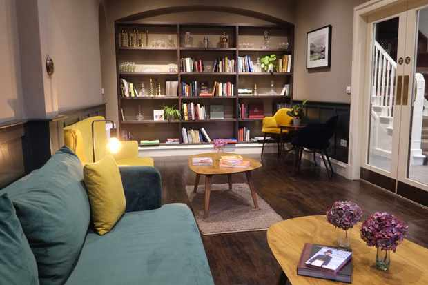 Library lounge in The Grandtully