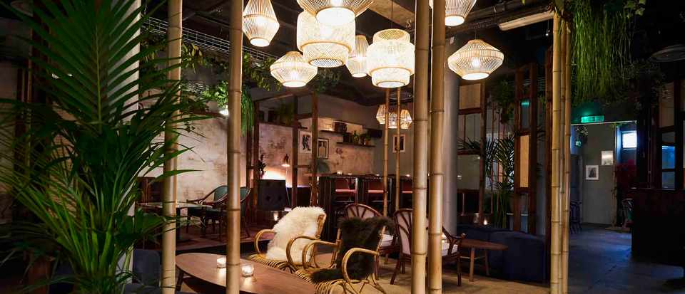 Interiors of Nine Lives Bar