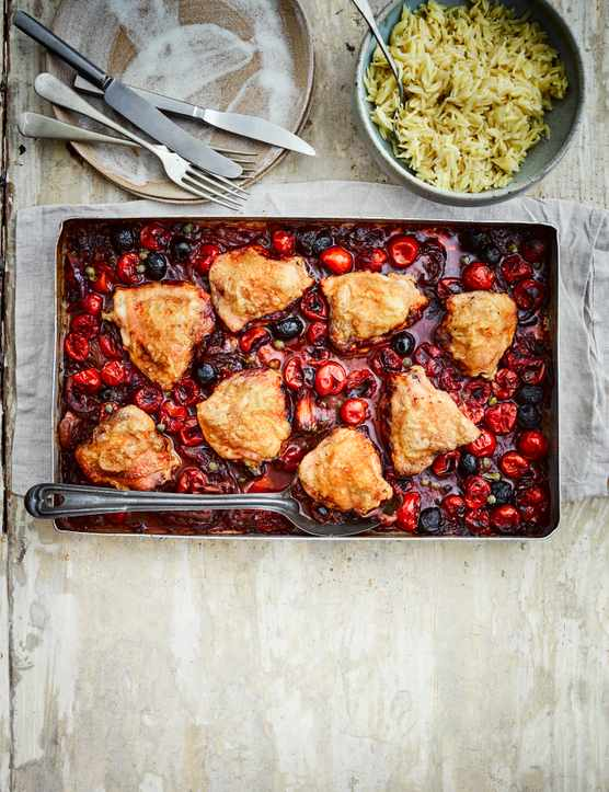 Puttanesca Chicken Traybake Recipe