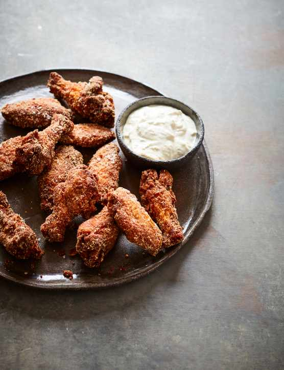 Fried Chicken Wings Recipe In Instant Mash