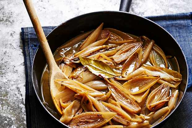 Braised Shallots Recipe with Sherry
