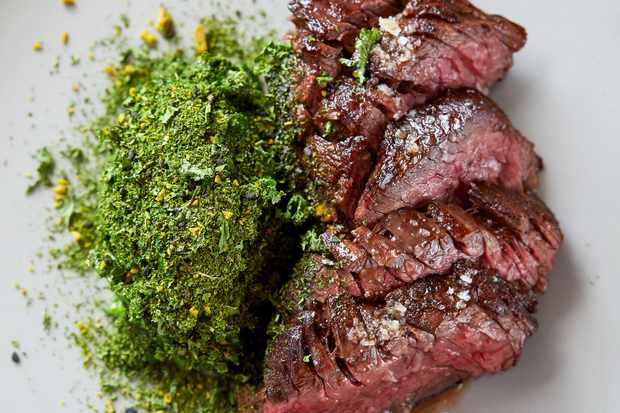 Bavette Steak Recipe with Creamed Kale