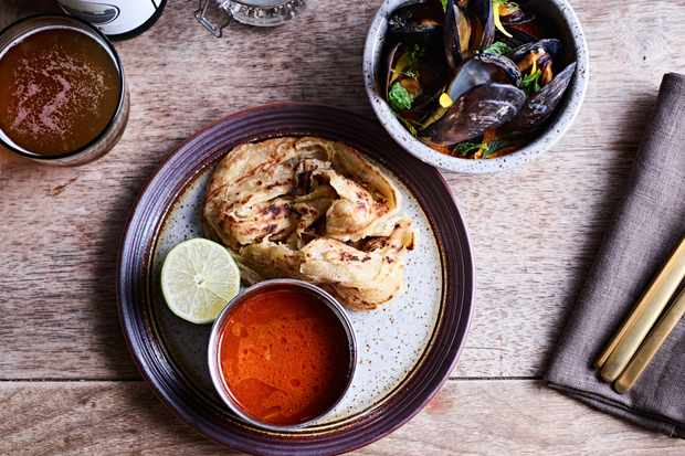 Friday night curries with roti on the side at Castle Farm Cafe near Bath