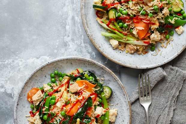 Vegan Fried Rice Recipe with Tofu