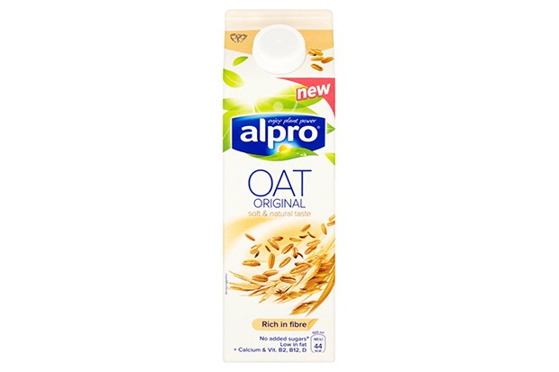 A white carton with alpro oat original written on the front