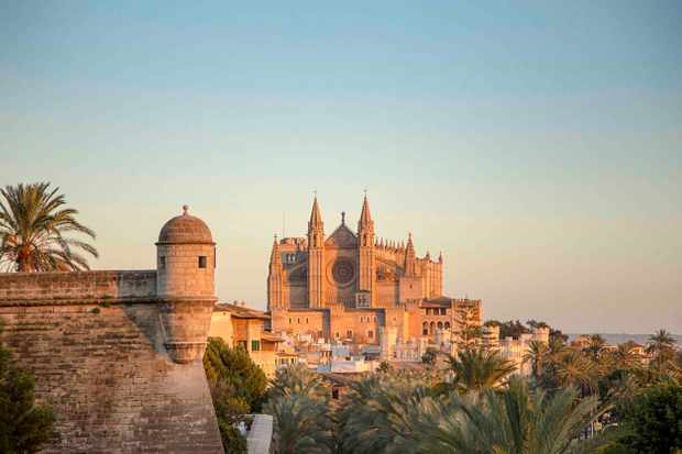 View of Palma's cathedral from afar
