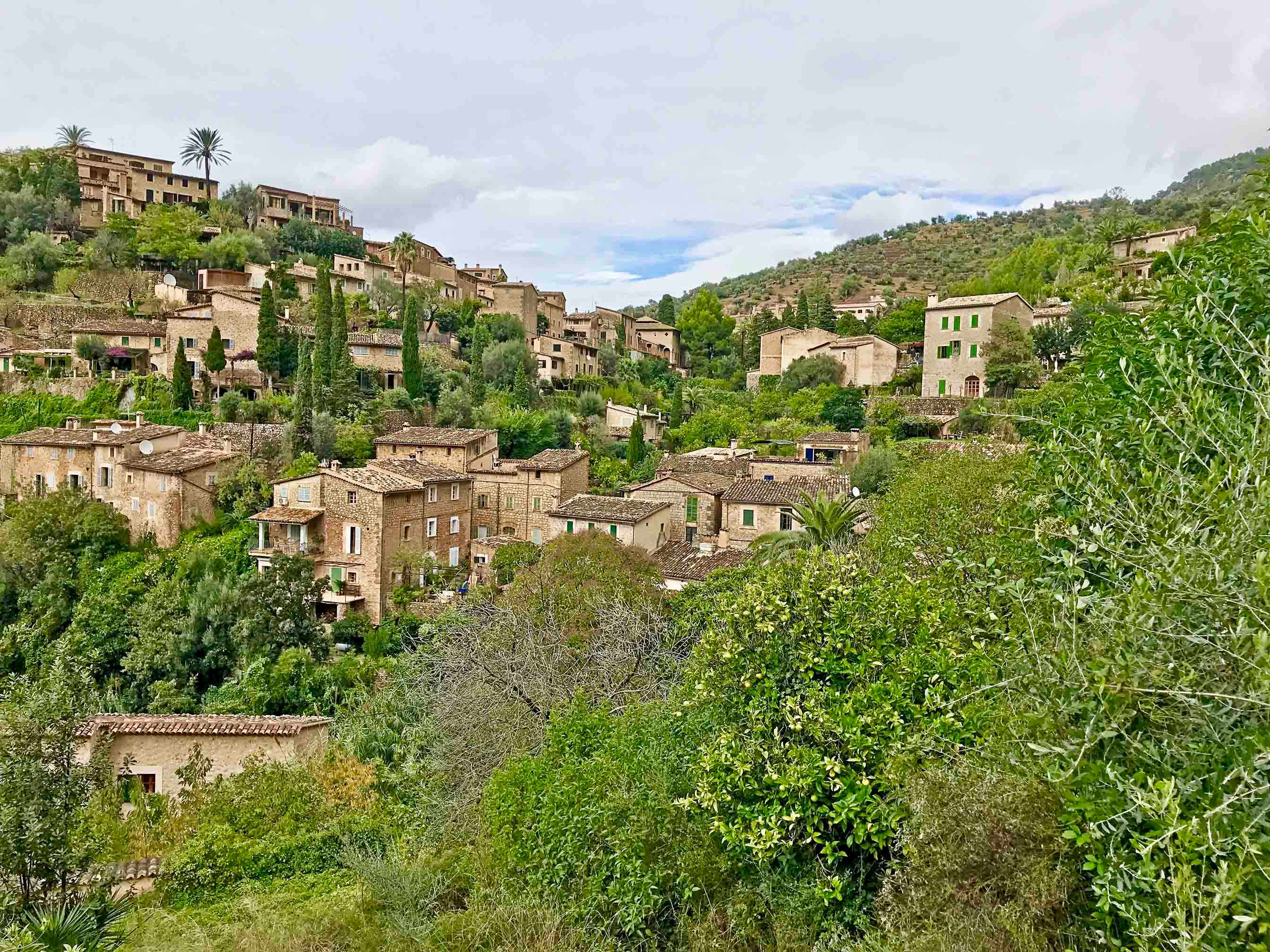 Deia Mallorcan Village in the green mountains