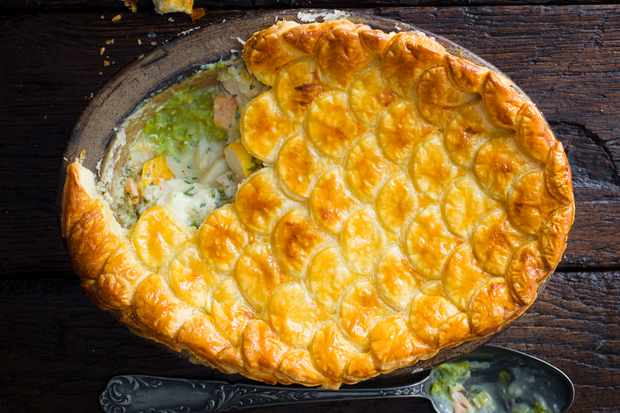 Best Fish Pie Recipe with Mushy Peas