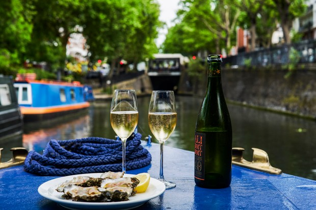 Oysters And Wine At The London Shell Company