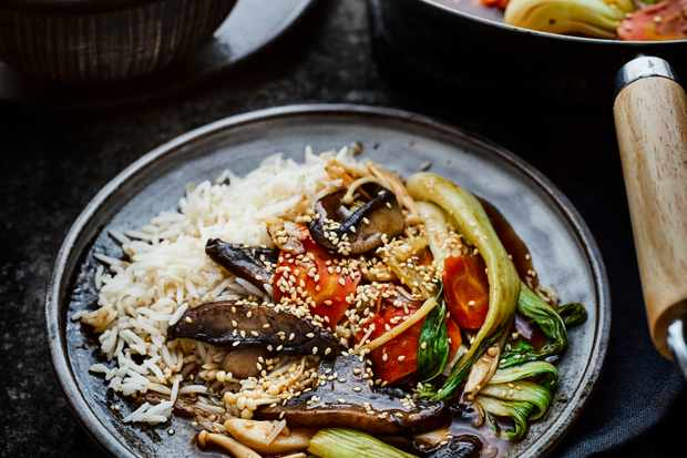 Vegan Mushroom Stir Fry Recipe