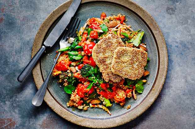 Quinoa and Halloumi Salad with Sprouting Broccoli