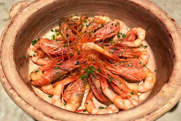 Soller shrimps at Boutique Hotel Sant Jaume