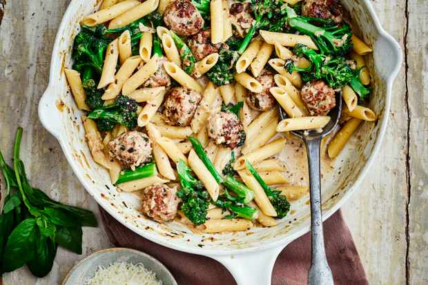 Sausage Meatball Pasta Recipe with Broccoli