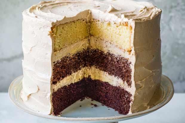 Chocolate Layer Cake Recipe with Chai Ganache